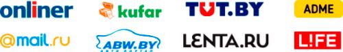 Популярные площадки - Onliner, TUT, Kufar, Mail, ABW, Lenta